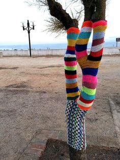 Yarn bombing en Sagres (Portugal)