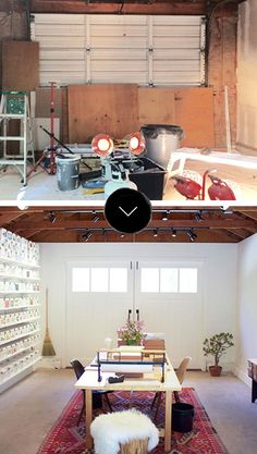 Before & After: A Garage Becomes a Beautiful Studio Space | Design*Sponge