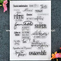 Davitu spring quotes clear stamps for card making accessories transparent rubber stamps for scrapbooking