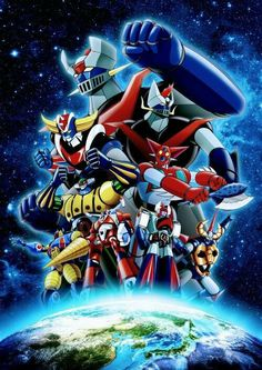 Combattler V, Days Anime, Battle Robots, Japanese Robot, Anime Land, 1 Gif, Mecha Anime, Super Robot, Animated Cartoons