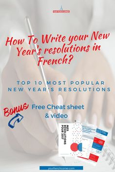 New year's resolutions in French #learnfrench #fle #frenchimmersion