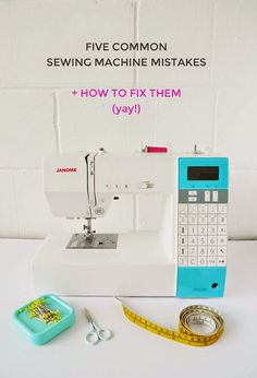 When you first start using a sewing machine, it's inevitable that you make mistakes. It's easy to...