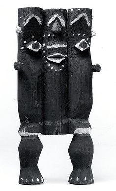 Figure: Female (Kike) - 19th–20th century  - Cameroon, northern Cameroon, Donga River region - Mambila peoples - Pith, pigment