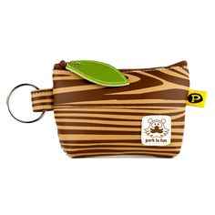 Wood Grain Zipper Coin Purse by Paul Frank! Super cool :)