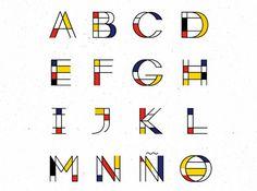 Mondrian Font   Free Font on Behance