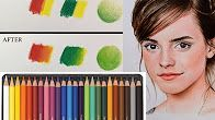 Colored Pencils for Adults: 48 Vivid Watercolor Pencils & Pink Case Set, Artist Grade Soft Cores, Color Dry or Wet, Ideal for Art & Coloring Books. Colored Pencil Tutorial, Colored Pencil Techniques, Colored Pencil Lessons, Colouring Techniques, Art Techniques, Pencil Drawings, Art Drawings, Horse Drawings, Coloring Books