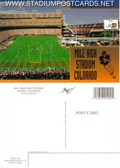 € 0,90 - code : USA-026 - Denver - Mile High - stadium postcard cartolina stadio carte stade estadio tarjeta postal