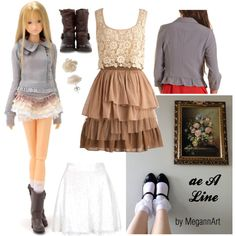 """""""Momoko doll ae A Line in Fashions for You"""" by megannart on Polyvore"""