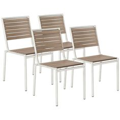 Nathan Teak Indoor/Outdoor Set of 4 Side Chairs #interiordesign #furniture See more http://www.eurostylelighting.com/furniture-category/search.htm