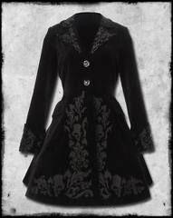 Character clothing | Rachel Seton | partial inspiration for badass Valentine dance velvet coatdress | YA fiction