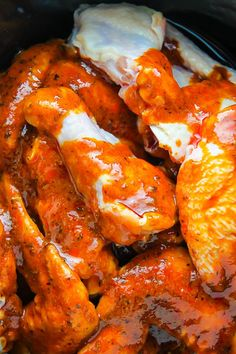 How To Cook Chicken Wings In A Slow Cooker Homemade Buffalo Saucebuffalo
