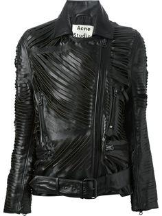ACNE STUDIOS - Mason slashed leather jacket 7