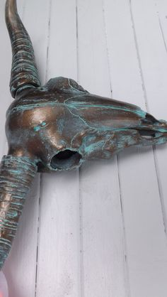 Turquoise Patina  /Faux Taxidermy / Wall Mount by Theshabbyshak, $70.00