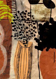 Beatrice Alemagna, Vases & flowers  thetopsyturvybook:    Due vasi e qualche fiore…