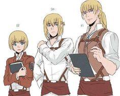 Armin Getting Older - SNK Attack On Titan