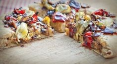 Vegan roasted red pepper and artichoke pizza by tabatha