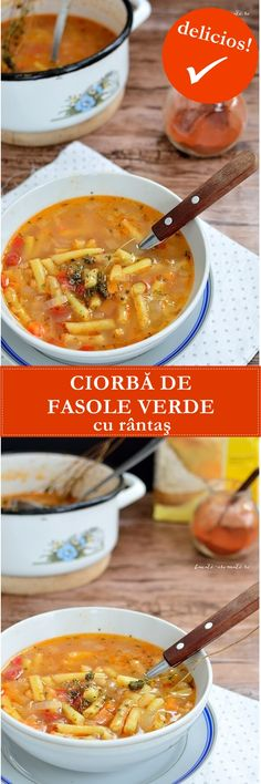 My Recipes, Soup Recipes, Recipies, Good Food, Yummy Food, Romanian Food, Cheeseburger Chowder, Fără Gluten, Food To Make