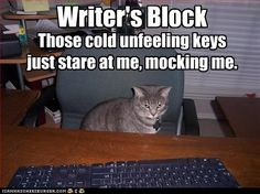 How I write a page-turning plot. Cat has writers block. http://www.writersfunzone.com/blog/2012/03/28/how-i-write-a-page-turning-plot/