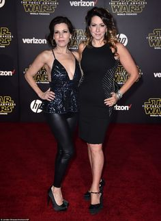 Supportive siblings: Carrie Fisher's sisters Tricia Leigh Fisher and Joely Fisher showed u...