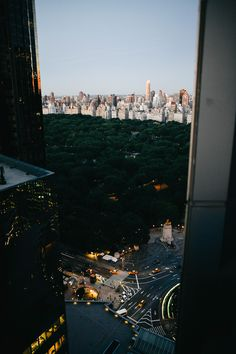 New York City view of Central Park.