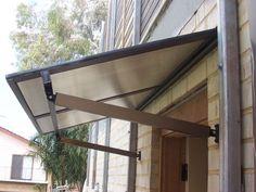 glass door awning s glass front door canopy uk Front Door Canopy Uk, Door Canopy Porch, Front Door Awning, Porch Awning, Diy Awning, Patio Canopy, Canopy Outdoor, Aluminum Window Awnings, Outdoor Window Awnings