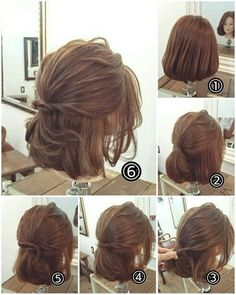 170 Easy Hairstyles Step by Step DIY hair-styling can help you to stand apart fr. - 170 Easy Hairstyles Step by Step DIY hair-styling can help you to stand apart from the crowds – P - Step By Step Hairstyles, Long Hairstyles, Everyday Hairstyles, Korean Hairstyles, School Hairstyles, Bob Hairstyles How To Style, Wedding Hairstyles For Short Hair, Quick Easy Hairstyles, Diy Wedding Hair