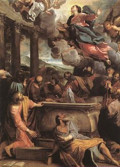 Assumption of the Virgin  c. 1590  Oil on canvas, 130 x 97 cm  Museo del Prado, Madrid  Annibale Carracci
