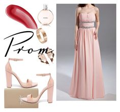 """""""Pearl Pink A Line Princess Strapless Floor Length Chiffon Prom Dress Ruffle Beading Harry Dress HD15615"""" by harrydress ❤ liked on Polyvore featuring Yves Saint Laurent, Steve Madden, Cartier, Nak Armstrong and Chanel"""
