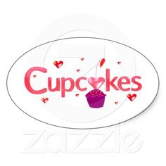 Frosted Cupcake Sign, Stickers...