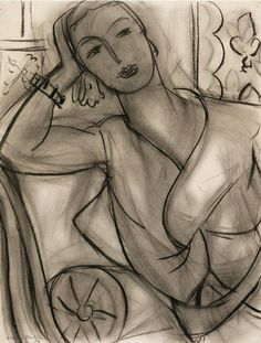 Henri Matisse - Portrait of Mrs Hutchinson, 1936.