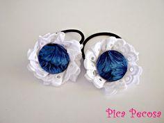Hair ornaments / Coleteros hechos con botones y puntilla