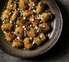 Pumpkin Gnocchi with Sage, Brown Butter Sauce and Feta
