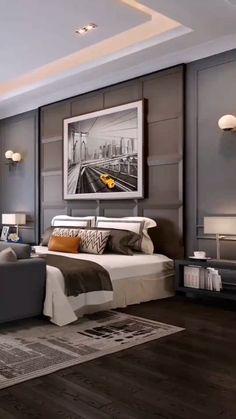 Modern Luxury Bedroom, Luxury Bedroom Design, Master Bedroom Interior, Room Design Bedroom, Bedroom Furniture Design, Home Room Design, Luxurious Bedrooms, Wood Furniture, Ceiling Design Living Room