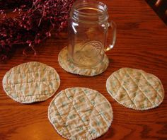 Set of 4 Cloth Coasters Made from an old Vintage by StitchedByMary, $3.00
