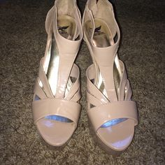 Nude wedges! Beautiful nude wedges, worn once. Shoes