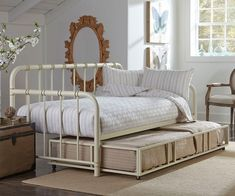 Simple and Ridiculous Tips and Tricks: White Futon Rugs futon design sleepover.Futon Makeover How To Make. Daybed With Drawers, Metal Daybed With Trundle, Trundle Daybed, White Daybed, Grey Futon, Black Futon, Leather Futon, Girls Bedroom, Industrial Furniture