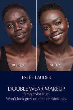 Beauty Care, Beauty Skin, Beauty Hacks, Beauty Tips, Almond Eye Makeup, Skin Care Routine Steps, Double Wear, Dark Skin Makeup, Short Black Hairstyles