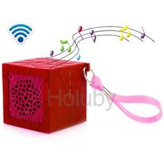 My Vision T9 Outdoor Portable Waterproof Cube Bluetooth Speaker with Strap - Red