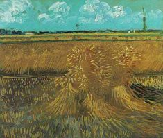 Vincent Van Gogh - Wheat Field with Sheaves fine art preproduction . Explore our collection of Vincent Van Gogh fine art prints, giclees, posters and hand crafted canvas products Vincent Van Gogh, Art Van, Van Gogh Museum, Art Museum, Desenhos Van Gogh, Van Gogh Arte, Van Gogh Pinturas, Van Gogh Paintings, Paisajes