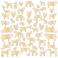 FARM ANIMALS Studio Calico Here & There Collection Laser-Cut Wood Veneer Shapes - Distress, Mist, Embellish - New Release 2013