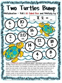 27 Multiplication Bump Games by Games 4 Learning $ So cute and the kids always LOVE to BUMP!