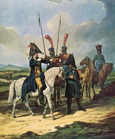 Spanish general and his staff: Battle of Barossa on 5th March 1811 in the Peninsular War: picture by Denis Dighton