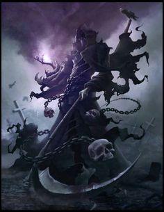 Dark Art Fantasy Castles 48 Ideas For 2019 Fantasy Monster, Monster Art, Dark Fantasy Art, Fantasy Artwork, Demon Artwork, Fantasy Character Design, Character Art, Grim Reaper Art, Anime Grim Reaper