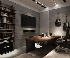 Cool home office ideas Inspiration While Some Homes Certainly Opt For The Opulent There Is Always Something Particularly Intriguing About Those Luxurious Designs That Manage To Keep Things Pinterest 11 Cool Home Office Ideas For Men Home Office Decor Home Office