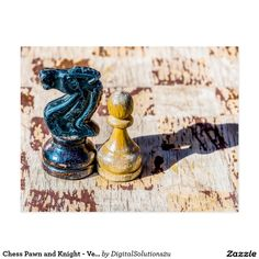 Chess Pawn and Knight - Veterans Postcard