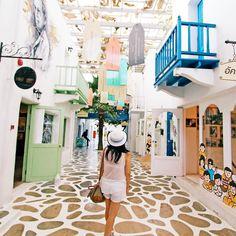 Santorini Park | Thailand #santorinipark #thailand #Greece #Santorini feel #themepark #limkimkeong #limkimkeong_Asia #limkimkeong_thailand #旅行 #泰国