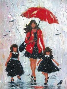 Rain Girls Red