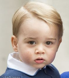The real thing: Prince George, pictured in London at the birth of his baby sister back in May 2015
