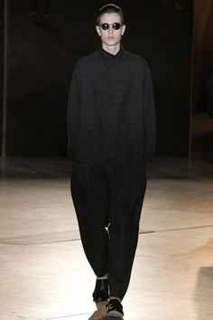 Damir Doma spring2013  Camouflage to the darkness...it's pitch black! lol