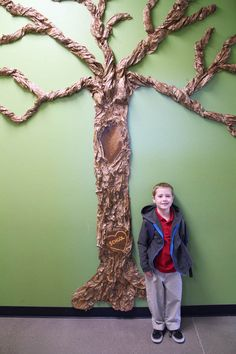 Making a  Giant Classroom Tree for my Kindergartener